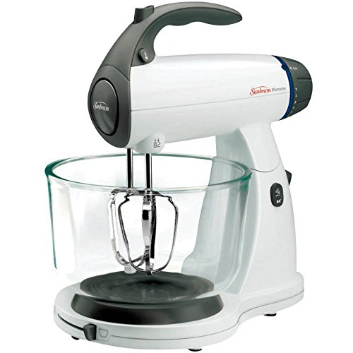 Sunbeam Mixmaster 12-Speed Stand Mixer, 2 Qt. and 4 Qt. Glass Bowls Included, White