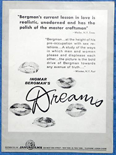 INGMAR BERGMAN'S DREAMS PRESSBOOK Eva Dahlbeck Harriet Andersson Janus Films