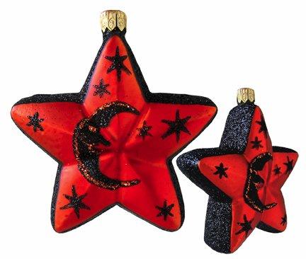 Slavic Treasures HAL084007 Vintage Sparkle Halloween Ornament Star