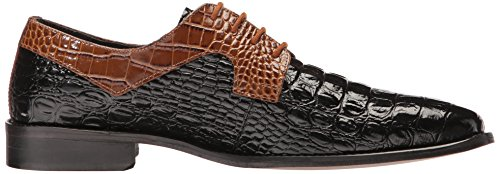 Stacy Adams Mens Garelli Oxford Black / Mostard