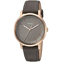 Fossil Women's 'Neely' Quartz Stainless Steel and Leather Casual Watch, Color:Grey (Model: ES4339)