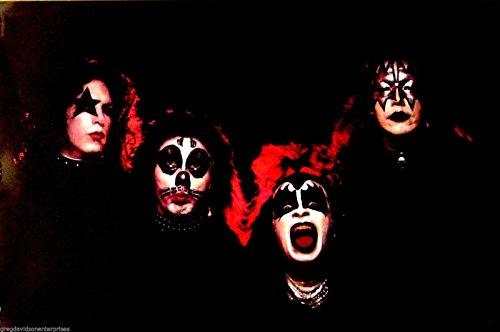 Kiss 24x36 Group Poster Peter Criss W/ Alternate Make Up