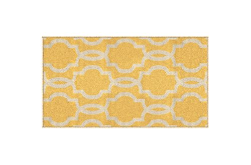 Kapaqua Rubber Backed Fancy Moroccan Doormat Accent Non-Slip Rug, 18