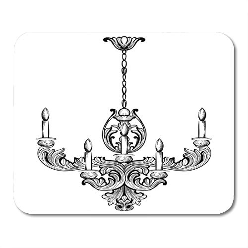 Emvency Mouse Pads Furniture Rich Baroque Classic Chandelier Luxury Accessory Sketch Vintage Mouse pad 9.5