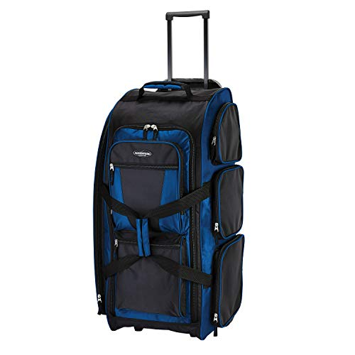 Travelers Club 30″ Xpedition Upright Rolling Travel Duffel Bag, Neon Blue, Large