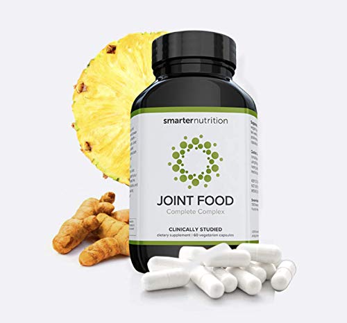 Smarter Joint Food - Joint Nourishment Provides Healing Support & Maintains Healthy Joints - Formulated with Whole Collagen, MSM, Vitamin C, Turmeric, Bromelain, CMO, Lipase (360 Count - 6 Month)