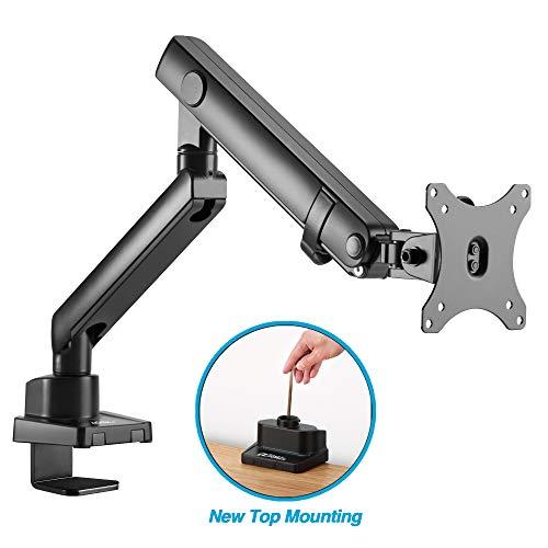 AVLT-Power Single Monitor Desk Mount Holds 17.6 lbs Ultrawide Screen - Height Adjustable Full Motion Articulating Mechanical Spring Arm for 13