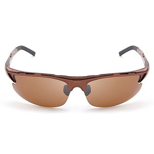 Lunettes Protection de de Hommes polarisées pour Soleil Mode Lunettes Brown de Soleil Conduite MY la à UV Lunettes FqCYwF