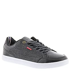 Levis Men's Aart Chambray Fashion Sneaker, Black, 9 M US