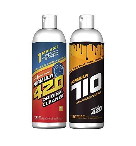 Pack : 1 Bottle Glass Metal Ceramic Pipe Original Cleaner 12 Oz. & 1 Bottle Formula 710 Advanced Cleaner 16oz (2 Bottles Total) ()