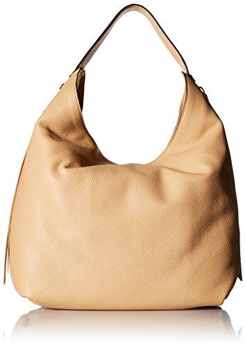- Rebecca Minkoff Bryn Double Zip Hobo Bag, Biscuit, One Size