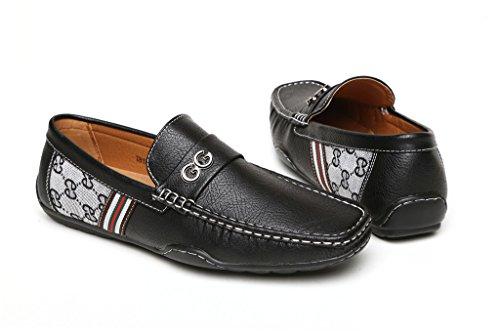 Cordones RU Negro GG Negro zapatos Moda Mocasines Diseñador Marrón Casual Hombre Verano Sin Conducción núm nqOHXd6x