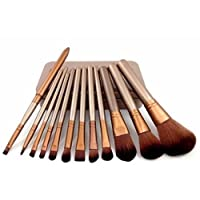 FOK Set of 12 Pcs Complete Makeup Brush Kit With Storage Box Cosmetic Beauty Tool Makeup Blender