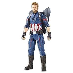Marvel AVENGERS - Captain America - Titan Hero Power FX Action Figure - Kids Super Hero Toys - Ages 4+