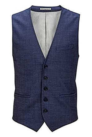 67805101e58932 Drykorn Herren Weste Anzug-Weste H-P-MOORE, Farbe: Dunkelblau: Amazon.de:  Bekleidung