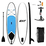 "GHT 10' Inflatable Stand Up Paddle Board (4"" Thick) with Pump, Paddle, Fin"