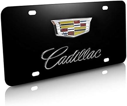 3D CadillacLOGO Emblem STAINLESS STEEL Chrome License Plate Frame Holder 1