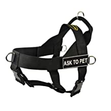 Dean & Tyler Universal No Pull Dog Harness, Ask To Pet, X-Small, Fits Girth, 53cm to 64cm, Black