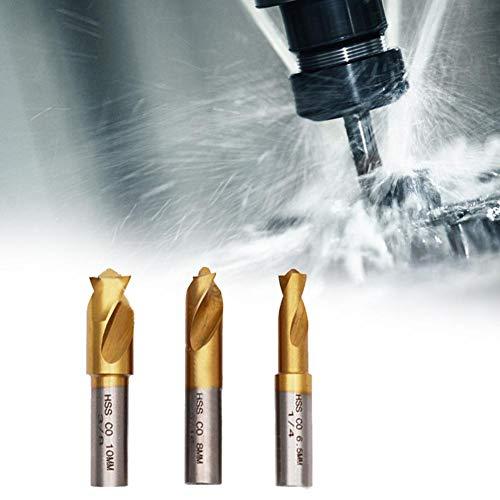 ドリルビットセット、1/4インチ5/16インチ3/8インチ3個HSS COコバルトスポット溶接ドリルビットセットキットスポット溶接板金パネル用溶接カッター切断アクセサリ
