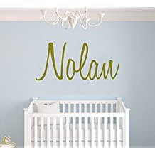 "Custom Name Gold Serie Wall Decal Nursery - Baby Boy Girl Decoration - Mural Wall Decal Sticker For Home Interior Decoration Car Laptop (AM) (Wide 22"" x 10"" Height)"