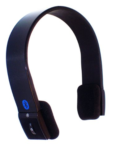 (KOKKIA S10 Enhanced Data Rate Bluetooth Stereo Headset for Music and Voice - Luxurious Black)
