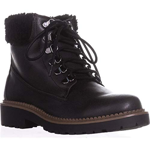 Esprit Wool - Esprit Candis Wool Cuff Work Boots, Black, 7 US