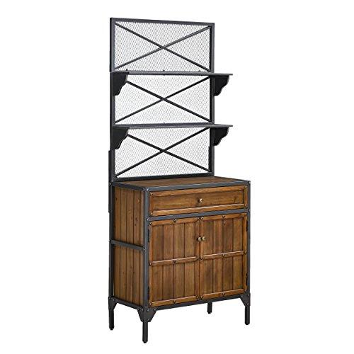 "Furniture HotSpot Bakers Rack- Black w/Natural Pine - 27"" W x 14.5"" D x 65.25"" H"
