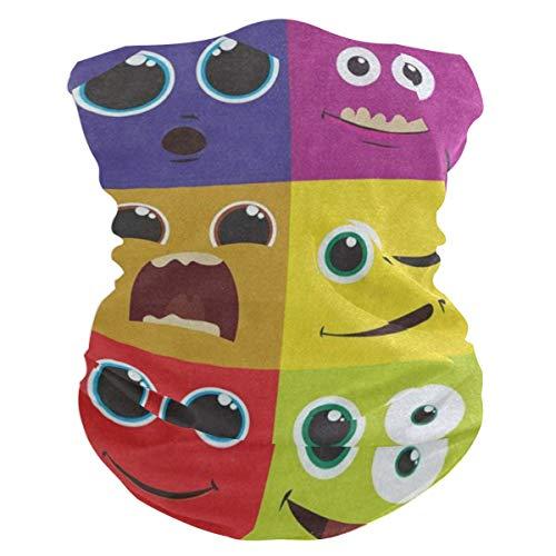 Hipster Smile Sad Headband Womens Bandana Mens Balaclava,Neck Warmer,Face Mask,Sweatband Aliceband