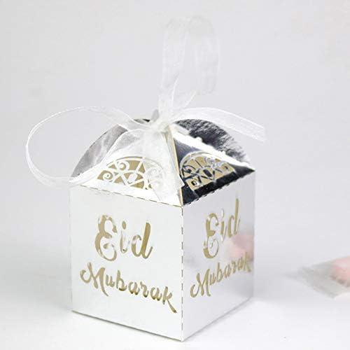 50x//Bag Eid Treats Cut Candy Gift Boxes Wedding Party Favor Decor Item Perfect