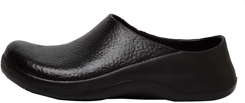 ONCEFIRST Unisex Leather Slip Resistant Work Shoe Nursing Shoes Chef Shoes
