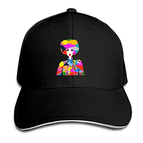 Colorburst Hipster Baseball Cap Trucker Hats Adjustable Dad Hat Peaked Flat for Men - Hat Trucker Couture