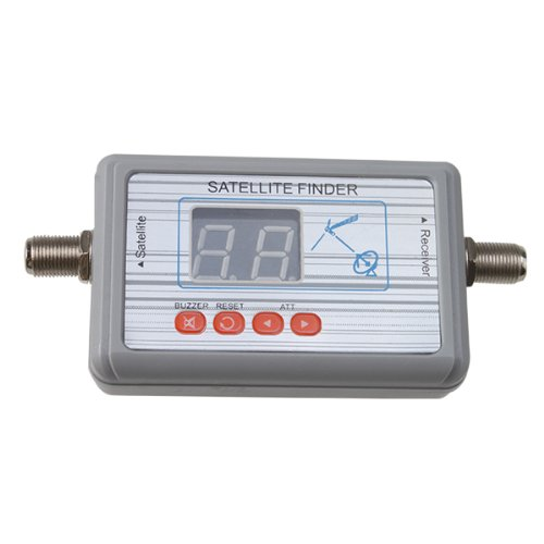 AGPtek® Digital Satellite Finder Meter Backlit with LCD Display and Audio Tone