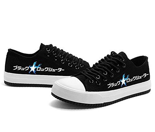 Bromeo BLACK ROCK SHOOTER Unisexe Toile Low-Top Sneaker Baskets Mode Chaussures Lumineux