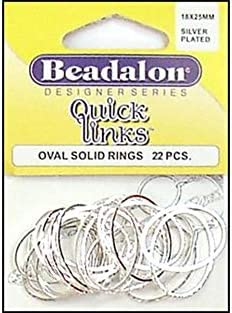 Beadalon® Quick Links™ Findings Round Shape 20mm Silver Plated 22 pieces