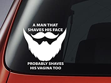 A Man That Shaves His Face Beard Decal Car Window Sticker Wall - Car window stickers amazon uk