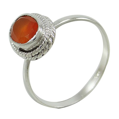 - Banithani 925 Sterling Silver Cornelian Gemstone Ring Jewelry Gift For Women