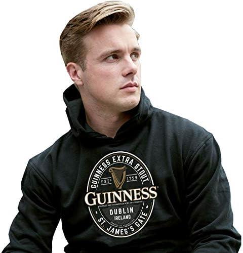 Guinness Felpa con Grande Brewed in Dublin Etichetta Nero Colore