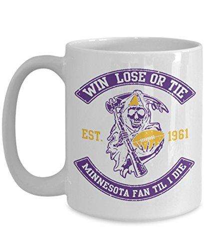 Minnesota Mug - Win Lose Or Tie Minnesota Fan Til I Die - Football Ceramic Coffee Mug - Sports Memorabilia Gifts
