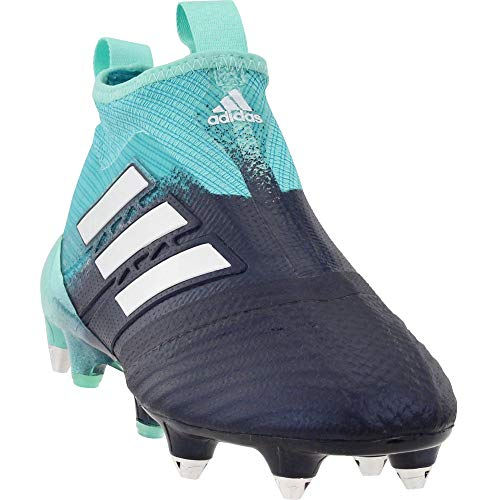 adidas Mens Ace 17+ Purecontrol Soft Ground Soccer Athletic Cleats, Blue, 10