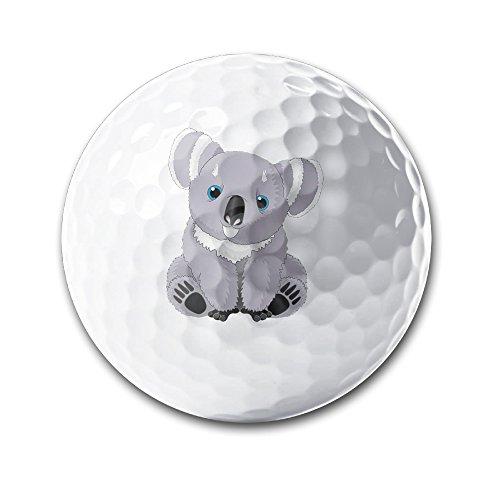 Cute Australia Koala Bear White Elastic Golf Balls Practice Golf Balls Golf Training Aid Balls by OYten