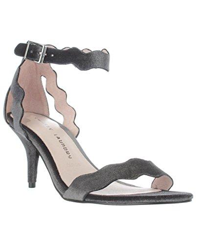 Sandali Con Cinturino Alla Caviglia Casual Da Donna Open Toe Rosie In Pelle Scamosciata Grigio / Fumo