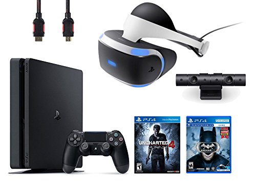 PlayStation-VR-Bundle-4-ItemsVR-HeadsetPlaystation-CameraPlayStation-4-Slim-500GB-Console-Uncharted-4VR-Game-Disc-Arkham-VR