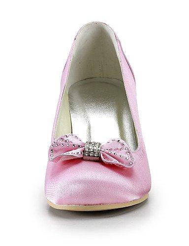 GGX/Damen Schuhe Seide Stiletto Heel Heels/Schuhe Heels Hochzeit/Party & Abend/Kleid pink 2in-2 3/4in-pink