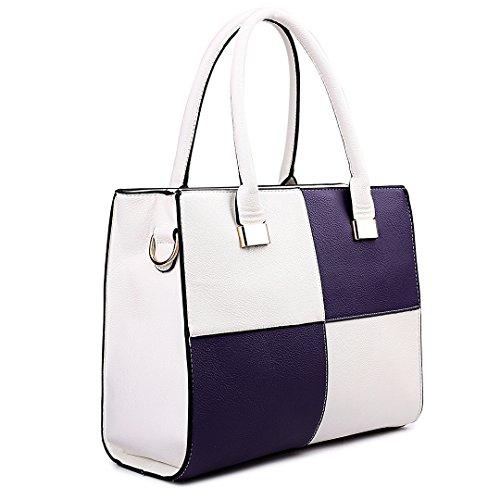 Sacchetto donna Lulu Miss Purple 1504 White wgq7756