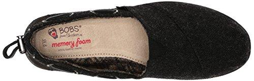 BOBS von Skechers Frauen Chill Luxe Flat Schwarze Wolle