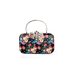 Women's Flower Rhinestone Clutch