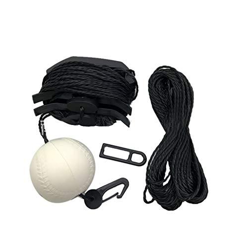 Ultimate Baseball Trainer Professional Baseball Tune-Up Kit with Baseballs & Coated Galvanized Wire & Mesh Bag (Black,White)