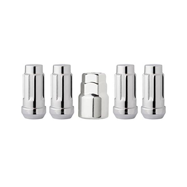DPAccessories-LCB4L8HC-CH04LK4-Chrome-Wheel-Locks-14×15-Closed-End-XL-Bulge-Acorn-19mm-21mm-Locking-Lug-Nuts-Wheel-Lock-Set