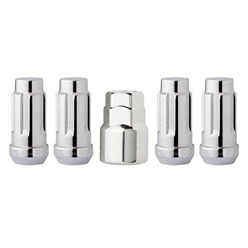 DPAccessories LCB4L2HC-CH04LK4 Chrome Wheel Locks 1/2-20 Closed End XL Bulge Acorn 3/4 & 13/16 Locking Lug Nuts Wheel Lock Set