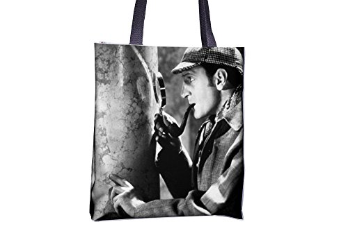 Tote bag with Basil Rathbone as Sherlock Holmes.